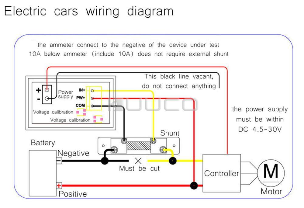 DC 6V/12V/24V Digital Tester 2in1 Dual Display Voltmeter Ammeter DC