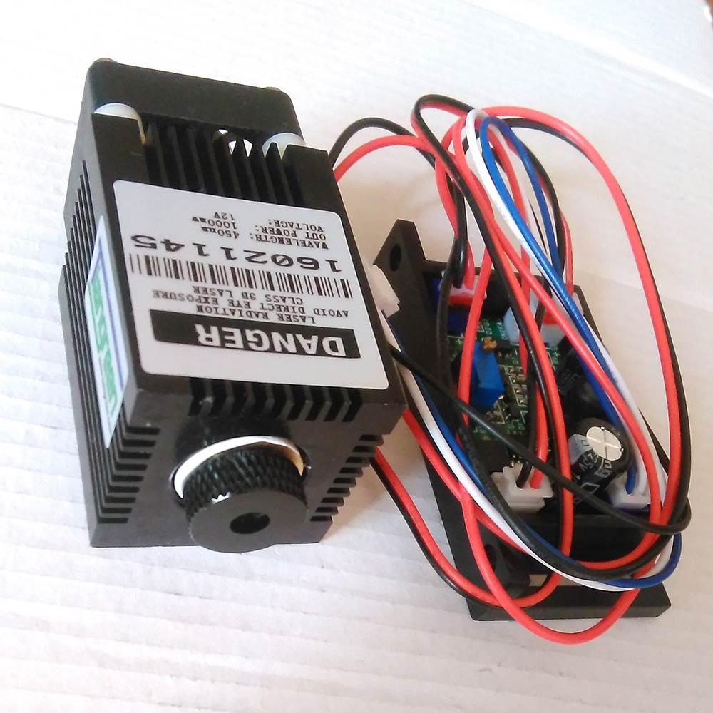 Mini Laser Module,450nm 1w Laser Head,DIY 1000mW Engraving Machine Tube,Focusing TTL Laser Diode CNC fat beam 60mw 532nm laser diode module w ttl
