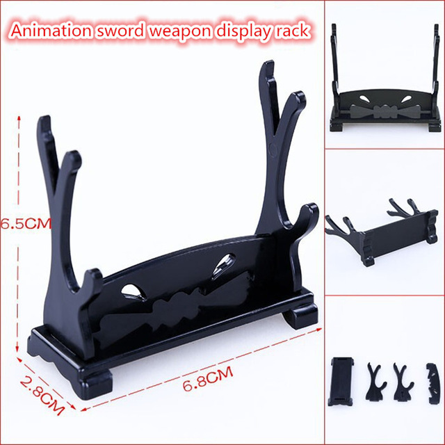 FOR Animation sword weapon display rack Fashion Car Weapon model ornaments Toy ornaments Black support