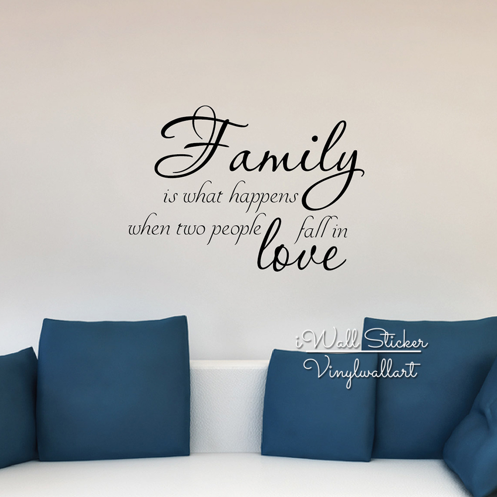 Aliexpress.com : Buy Family Quote Wall Sticker Home Fall