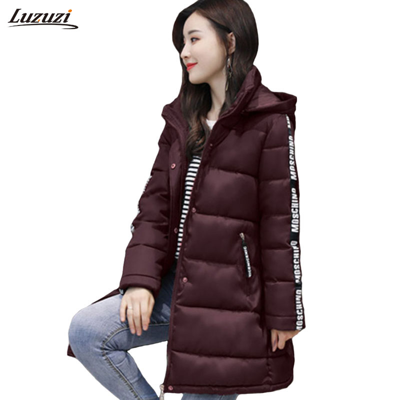 1PC Winter Jacket Women Winter Coat Women Hooded Parka Cotton Long Coats Womens Winter Jackets Manteau Femme Hiver Z1580
