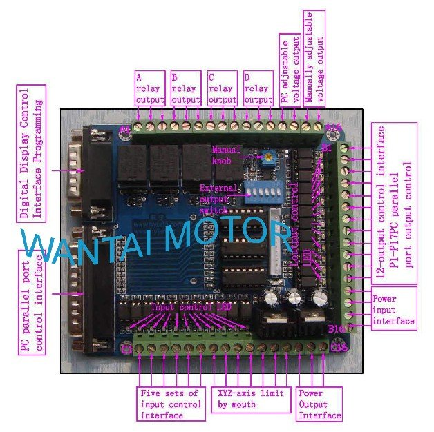 Great CNC Router MACH-CNC Interface Board For PC MACH3 KCAM4Great CNC Router MACH-CNC Interface Board For PC MACH3 KCAM4