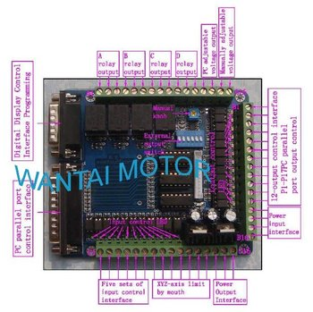 Great CNC Router MACH-CNC Interface Board For PC MACH3 KCAM4