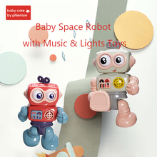 Baby Space Robot Toys Bump & Go Action Walking Robot with Music & Lights Early Education Puzzle Doll Action Toy Best Gift свитшот print bar music robot