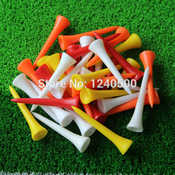 Free Shipping 1000Pcs/lot 54mm Mixed Color Plastic Golf Tees