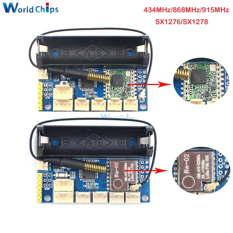 2PCS//LOT SX1278 Rola 868Mhz LoRa Radio Node v1.0 ATmega328P RFM98 with 3.7V 14500 Battery Holder DIY Kit Wireless Module