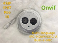 Dahua IPC HDW4431C A 4MP Network IP Camera IR POE CCTV Mic Built In H265 H264