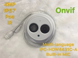 Dahua IPC-HDW4431C-A  4MP Network IP Camera IR POE CCTV Mic Built-in H265 H264 dome