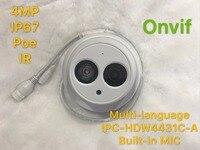 Dahua IPC-HDW4431C-A 4MP Network IP Camera IR POE CCTV Mic Built-In H265 H264 della cupola