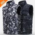 Оригинальный пуховый жилет xiaomi Uleemark с чернильным принтом  100 нейлоновая ткань  уровень печати чернил 5  водонепроницаемый мужской жилет на у...