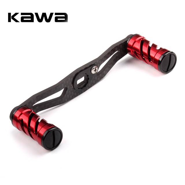 KAWA Fishing Reel Handle Carbon Fiber For Baitcasting 105mm Length Hole Size 8x5mm Thickness 3mm Suit For Abu and Daiwa Reel