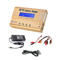IMAX B6 V2 B6AC 80W Battery Banlance Charger With 15V 6A Adapter for RC Lipo NiMh Li ion Ni Cd T Plug Battery