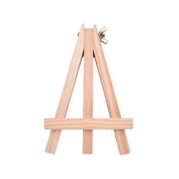 Mini drewno artysta sztaluga numer ślubu miejsce etykieta z imieniem stojak patera rama śliczna dekoracja biurka materiały DIY 18X24cm tanie i dobre opinie piece 0 09kg (0 20lb ) 1cm x 1cm x 1cm (0 39in x 0 39in x 0 39in) Sztalugą do malowania Sztaluga do szkicowania SHNGki