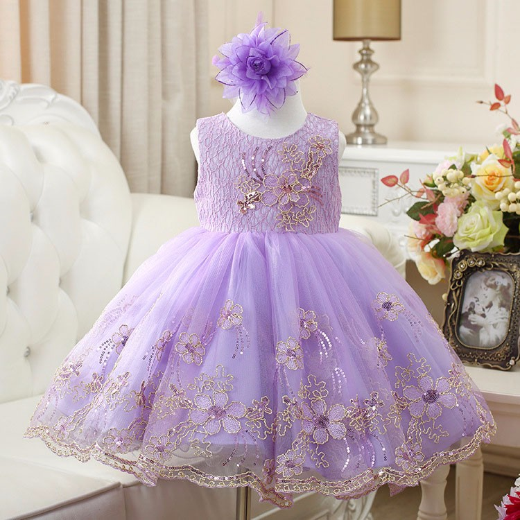 free delivery Princess Girl Dress 2018 fashion Baby Girls Lace Sequins Tulle Flower Party Dress Gown Formal Wedding kids Dresses european royal style new design girl princess dress lace flower with fashion cape spring dresses for girls gown wedding party
