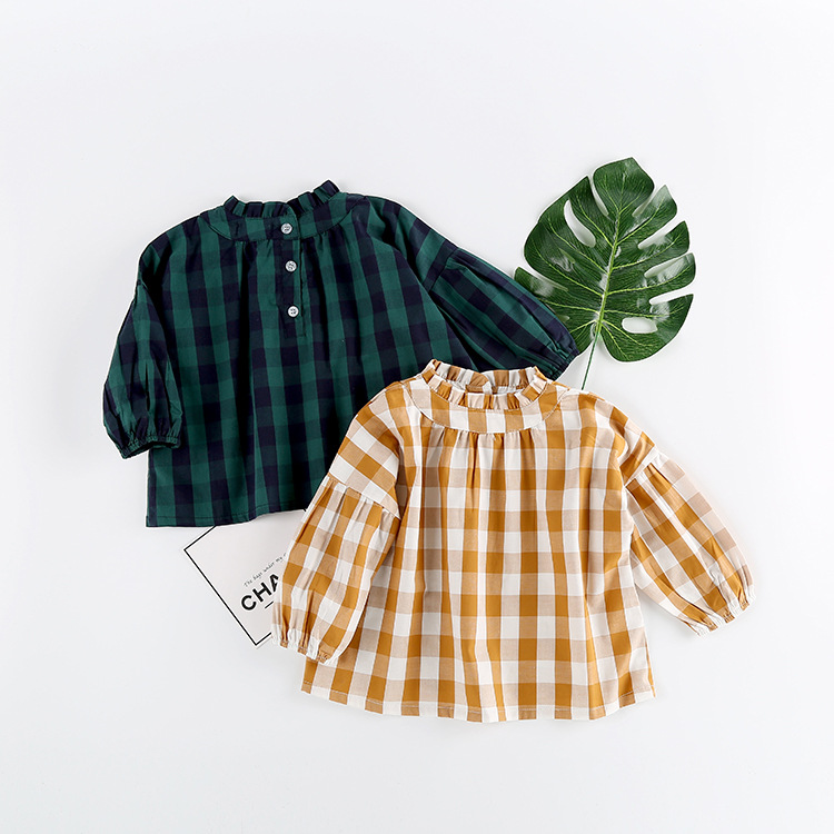 New Spring Summer Baby Girl Blouses Kids Shirts Fantasy Children Shirt Casual Plaid Clothing Child Clothes Wear Drop Shipping new 2015 summer children t shirts baby clothes child 100