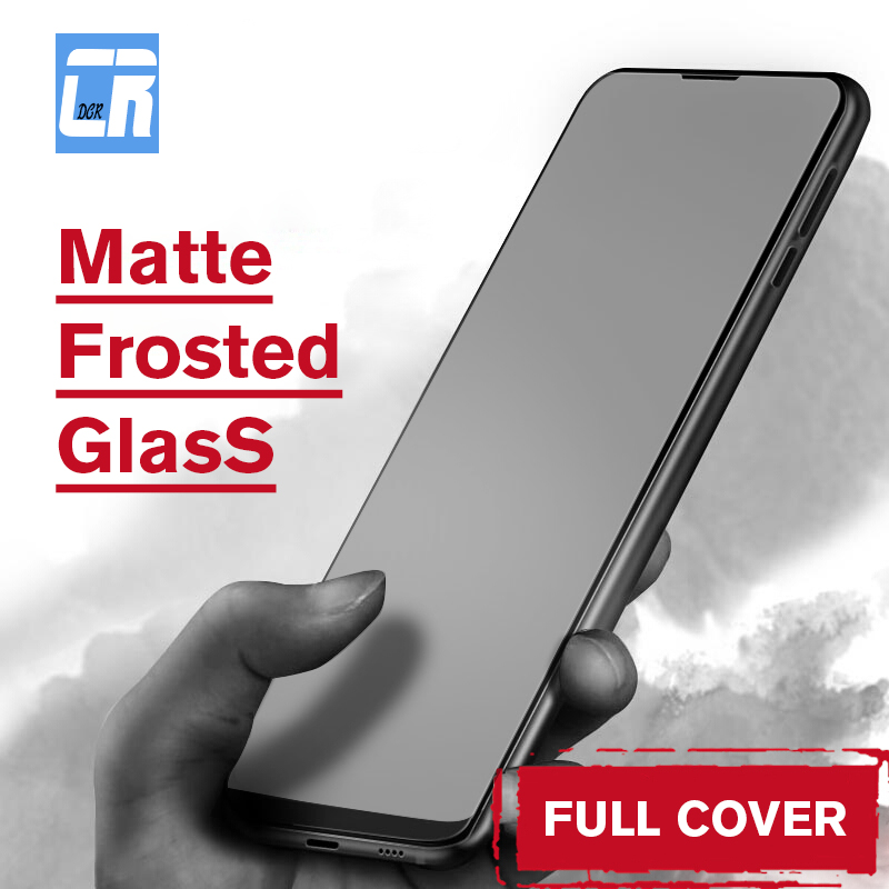 No Fingerprint Matte Frosted Tempered Glass On The For Xiaomi Redmi Note 7 6 Pro 4X S2 5X 6X F1 Mix 2s 3 Screen Protector Film