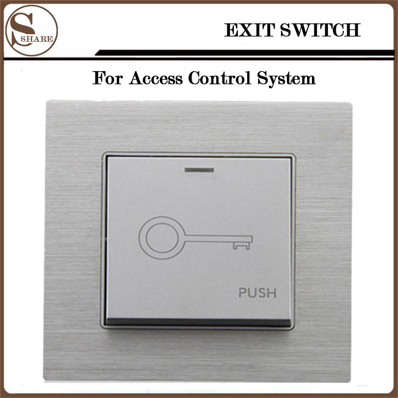 NEW Fashion Design Exit Push Release Button Switch For Electric magnetic Lock Door&Access Control System exit button white plastic exit push release button switch for door access control electric magnetic lock access control winte