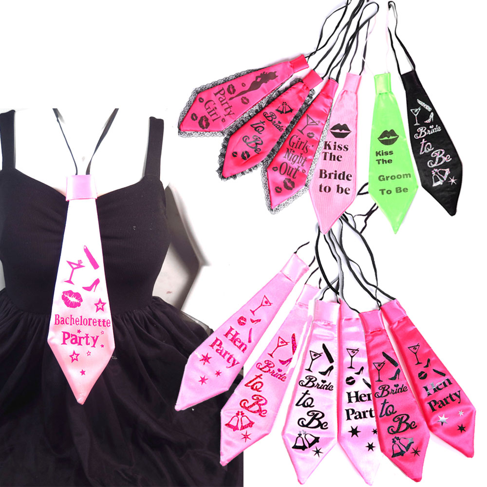 Aliexpress Buy Party Decoration Wedding Tie 50 Off For 3pcs Bachelorette Groom Bride To Be Supplies Hen Event 2017 New From
