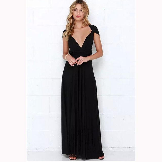 Dress Women 2018 Long Summer Convertible Bohemian Dresses Casual Bandage  Evening Prom Club Party Infinity Multiway Maxi Dresses. Previous  Next 2d1e8a73914d