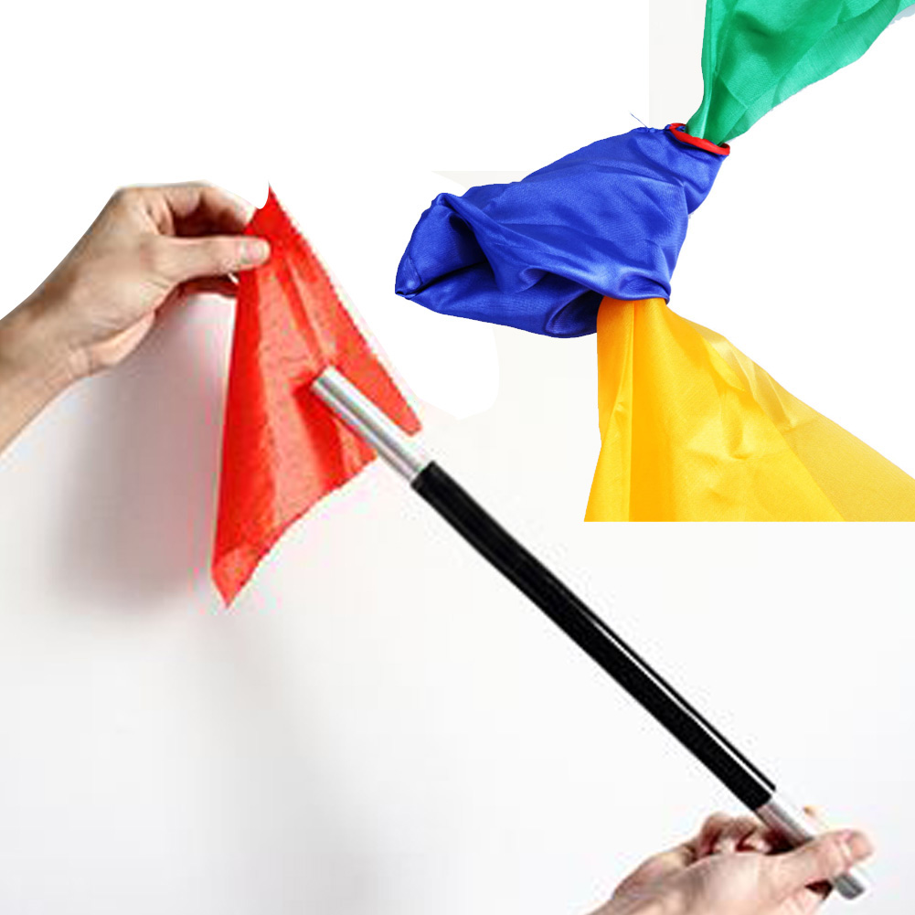 Four color Silk Scarf Color Change Silk Scarf Stage Magic Tricks Props Funny Novelty Stage Props