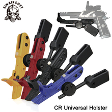 Tactical IPSC CR Style pistol Universal Speed Right Hand Holster Black Red Blue Yellow For Paintball shooting hunting Accessorie