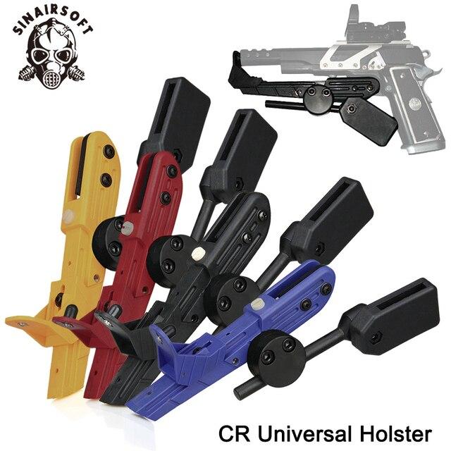 Tactical Ipsc Cr Stijl Pistool Universele Snelheid Rechterhand Holster Zwart Rood Blauw Geel Voor Paintball Schieten Jacht Accessorie