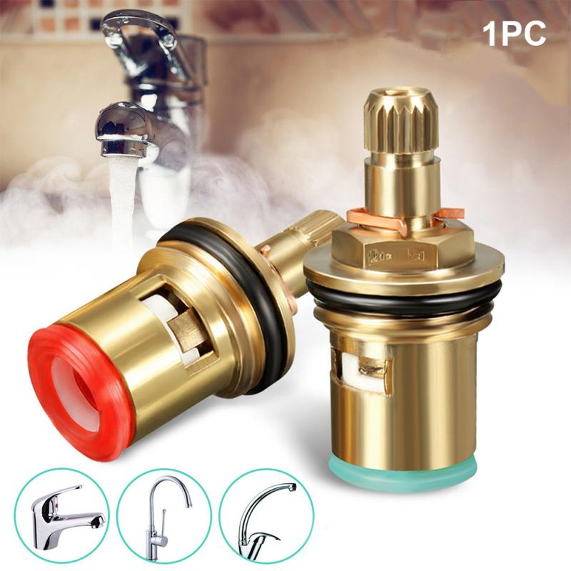 "1/2"" Replacement Brass Ceramic Disc Tap Valve Quarter Turn Cartridges Gland Insert 20 Teeth Faucet Accessory Disc Valve #030"