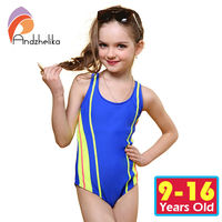 Andzhelika One Piece Children Swimsuit Girls Summer Patchwork Solid Swimwear Sports Bodysuit Girl Swim Suits Bathing