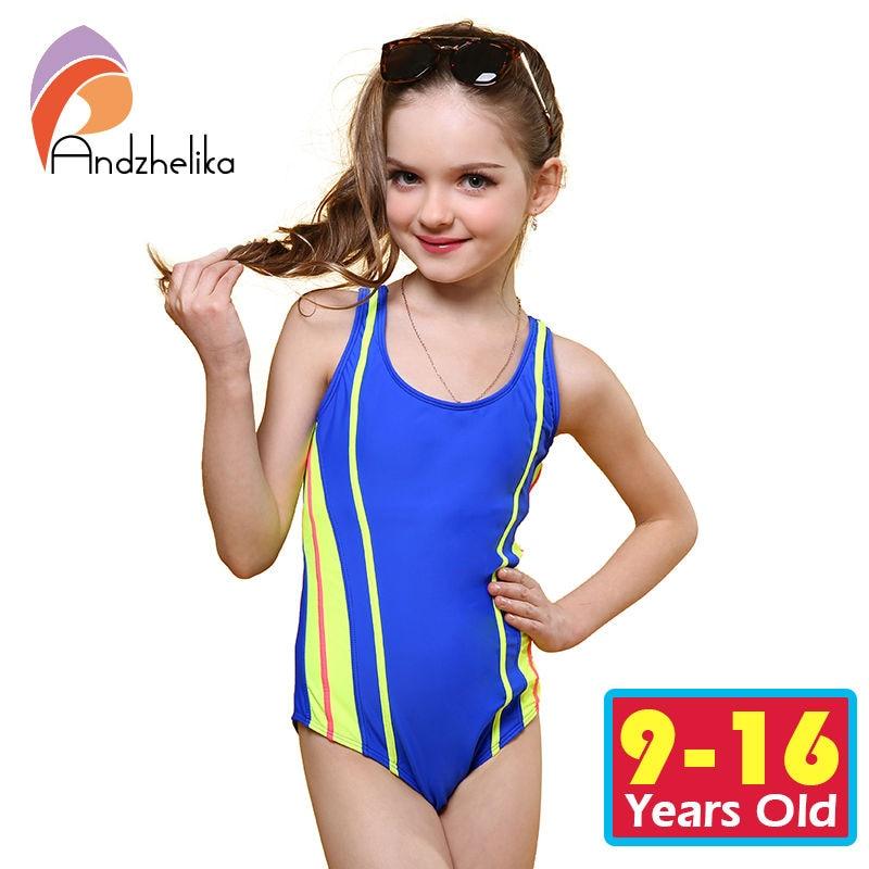 3e22028a01b Related Products. Andzhelika 2017 Swimsuit Girls One Piece Swimwear Solid  Bandage Bodysuit Children Beachwear Sports Swim Suit Bathing