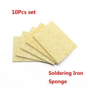 High quality 10Pcs High Temperature Resistant Sponge Electric Iron Tip Cleaning Sponge Rectangular 3.5CM*5CM
