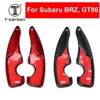 Car Styling Real Carbon Fiber Steering Wheel Shift Paddle Extension Shifter For Subaru BRZ 2017 Subaru GT86 2017 Interior Inner