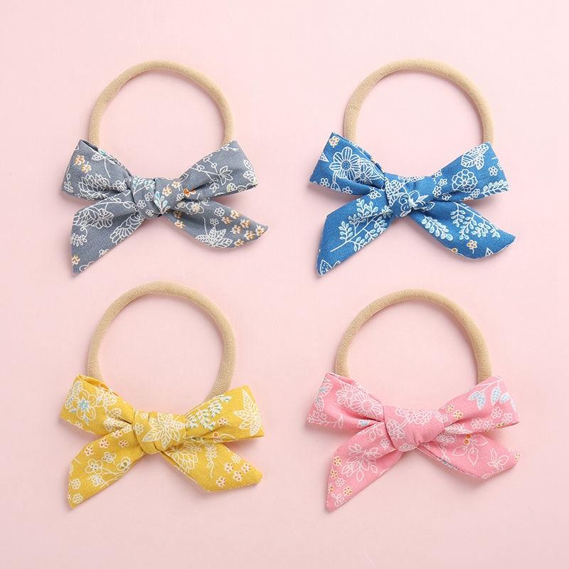 HN 10Pcs Newborn Baby Girl Headband Infant Toddler Bow Hair Band Girls Accessor