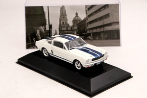 Image 3 - IXO Altaya 1:43 סולם פורד מוסטנג Shelby GT 350H 1965 מכוניות Diecast צעצועי מודלים מהדורה מוגבלת אוסף לבן