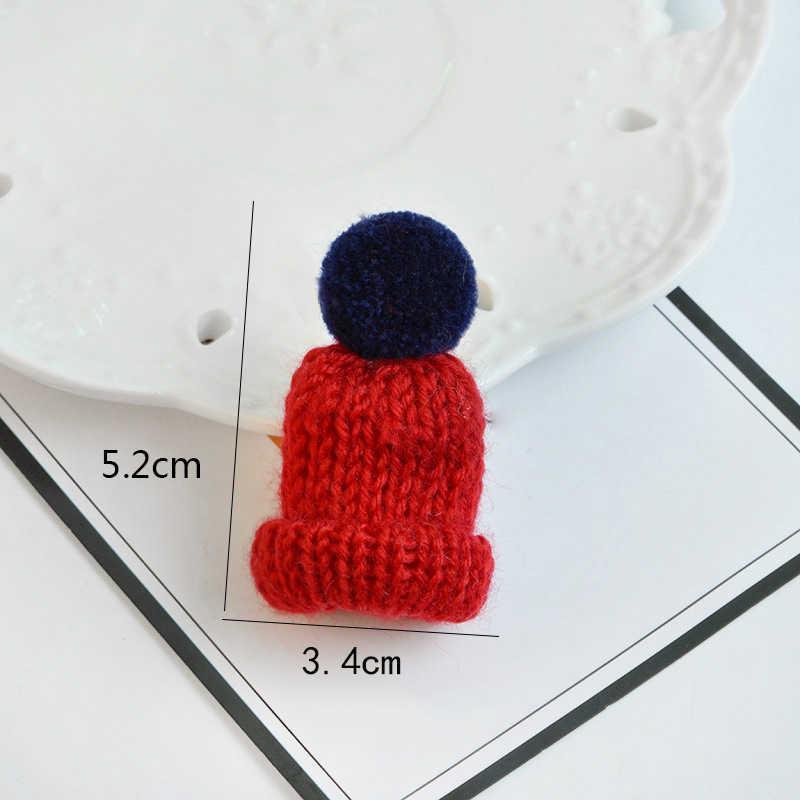 Yaratıcı renkli şapka Pin broş sevimli Mini örme Hairball şapka broş kazak rozet pimleri yaka elbise aksesuarları