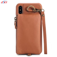 XFSKY 3 Colors European 2 In 1 Wallet Case Soft Card Holder High Qulity Genuine Leather