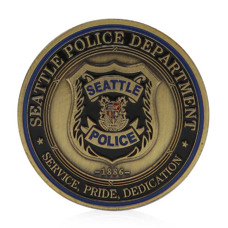 US $1 09 16% OFF|1Pc Saint Michael Seattle Police Department Commemorative  Challenge Coin Collection Hot Sale-in Non-currency Coins from Home & Garden