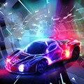 Aurora Piscando RC Car 20*8.5*4.5 cm Transparente Proteção Shell 4CH Brinquedo de Controle Remoto Brinquedo Carro de Corrida Modelo de carro Cor Aleatória