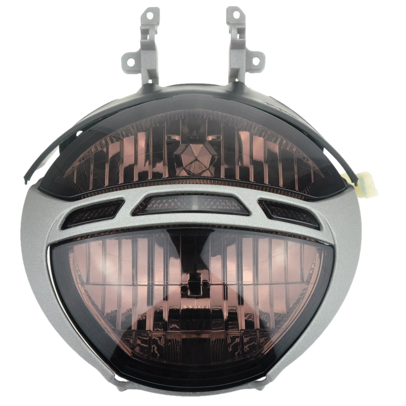 1set smoked lens motorcycle headlight headlamp shell. Black Bedroom Furniture Sets. Home Design Ideas
