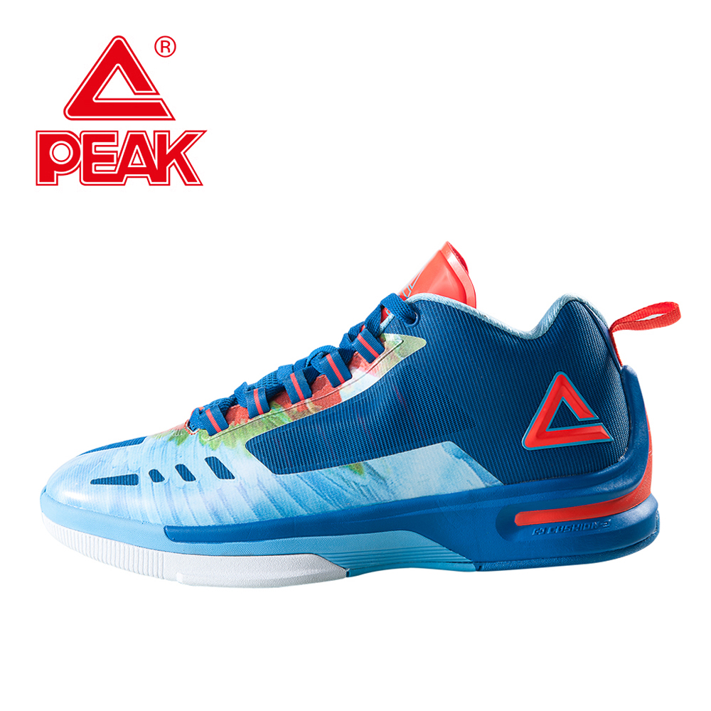 PEAK Professional Basketball Shoes Men Shoes Cushion-3 Cool Free Foothold Tech Athletic Boots Sneakers Basketball peak sport lightning ii men authent basketball shoes competitions athletic boots foothold cushion 3 tech sneakers eur 40 50