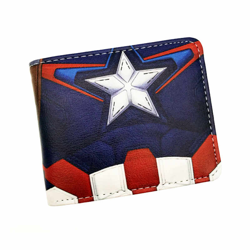 New 3D Muscle Design Captain America The Flash Iron Man Men's Gift Wallet With Zipper Poucht