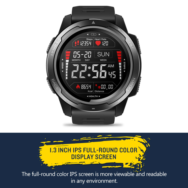 Zeblaze vibe 5 heart rate monitoring smart watch color display long battery life smartwatch multi-sports modes fitness tracker
