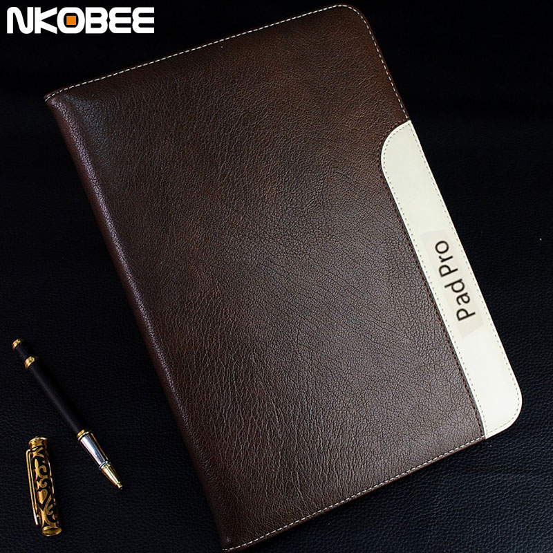 NKOBEE For iPad Pro 10.5 Case Leather Wallet Smart Cover For iPad Pro 10.5 Tablet Luxury Case Funda For Apple iPad Pro 10.5 official original 1 1 case cover for apple ipad pro 12 9 2017 cases tpu smart clear cover for ipad pro ipad plus 12 9 2015 case