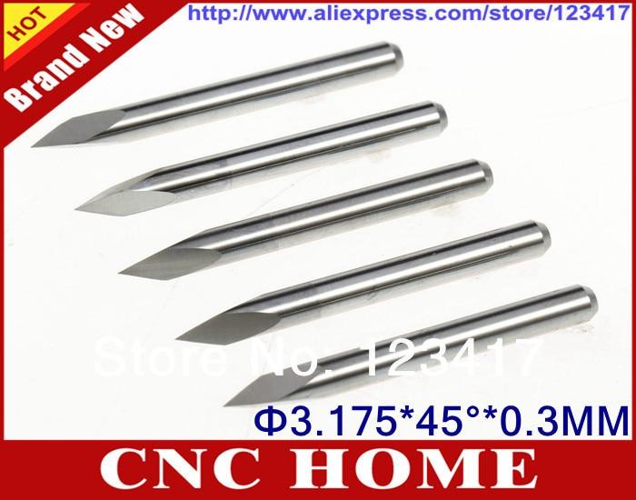 10x 1//8/'/' Carbide High Quality PCB Engraving Bits CNC Router Tool 60° 0.3mm