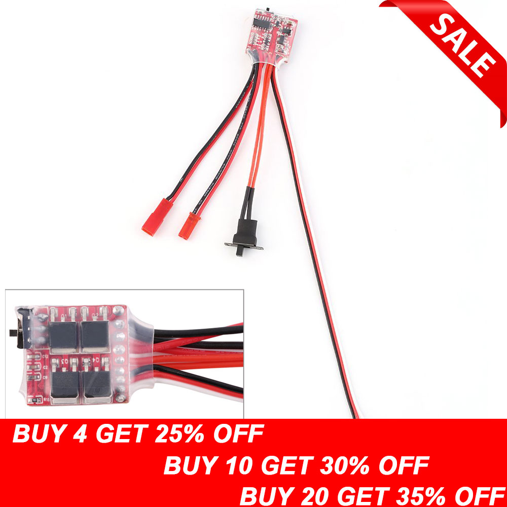 1pcs 10A 20A Bustophedon ESC Brushed Speed Controller For RC Car Truck Boat