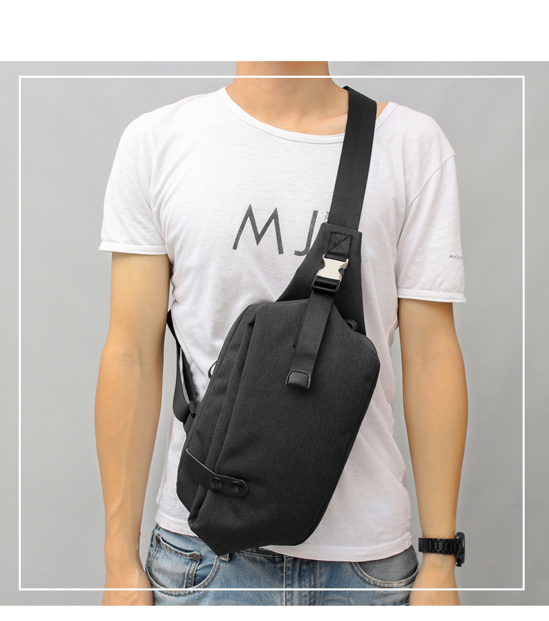 New Handiness Small Sling Young Men's Bag Chest Pack Hand Bag Men Messenger Bags Bohemian Mobile Phone Pouch Casual Travel Male tinyat men functional multilayer bag cool casual chest bag pack morden outside large capacity messenger bag pack t509 black