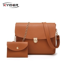KYIDER 2 Pcs Women Shoulder Bag Purses Handbag Messenger Bags For Lady Crossbody Sac A Main Composite Clutches