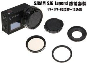 Image 5 - New SJCAM Accessories 40.5mm CPL Filter+Slin UV Filter+Lens Cap for SJ6 Legend/SJ7 Star/SJ8 pro/Air Action Camera Lens Protector