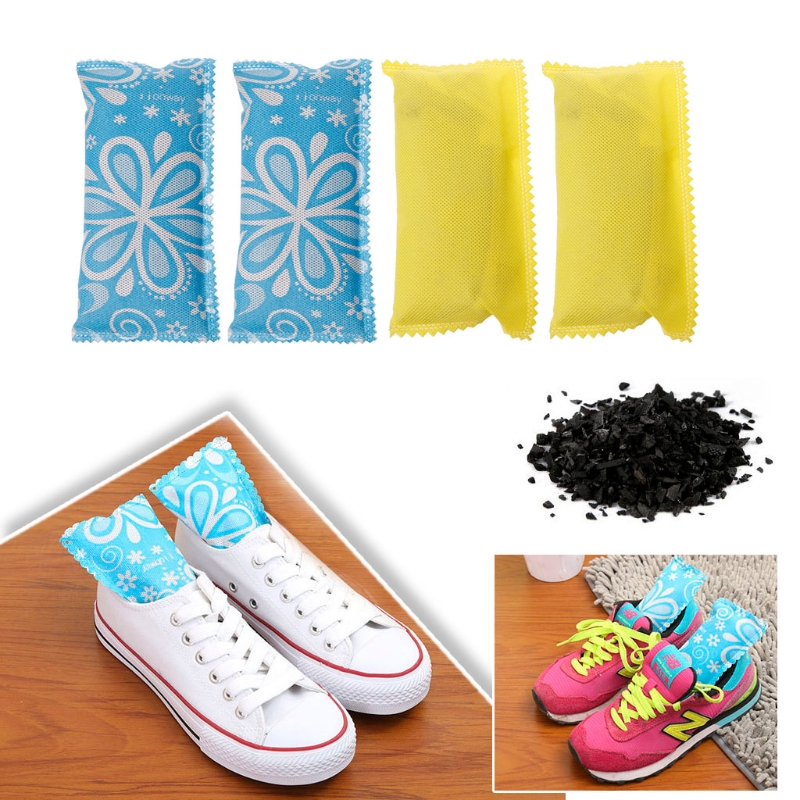 1 Pair Car Home Air Freshener Purifier Odor Absorber Activated Carbon Bamboo Charcoal Bag Closet Shoe Deodorant Deodorize
