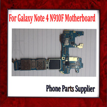 Europe Version,For Samsung Galaxy Note 4 N910F Motherboard with Chips,100% Original for Samsung Galaxy Note 4 N910F Mainboard