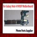 La versión de europa, para samsung galaxy note 4 n910f motherboard con chips, 100% placa base original para samsung galaxy note 4 n910f